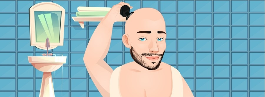 For maintaining the bald look
