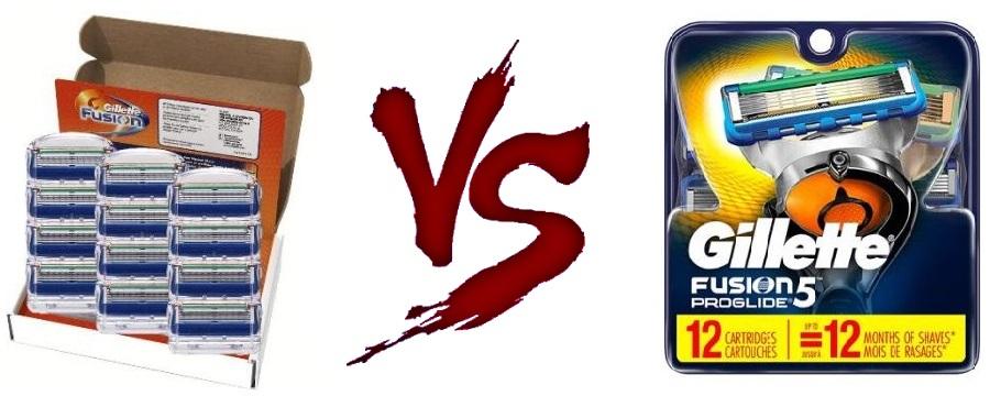 Gillette Fusion vs Fusion 5