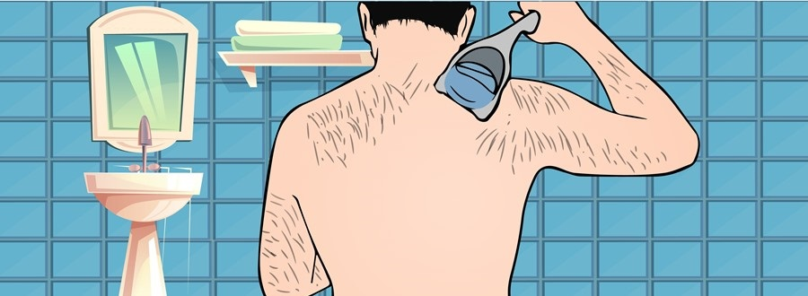Shaving back area