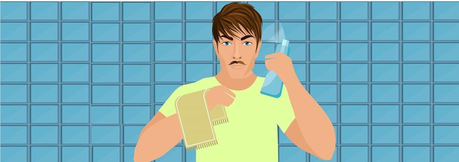 Step 1- Make The Hair Damp