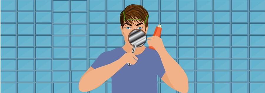 Step 6- Spritz Liquid Razor on Your Hairline