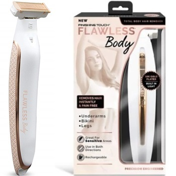 Flawless Body Rechargeable Ladies Shaver and Trimmer by Finishing Touch