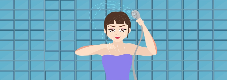 Step 9 – Rinse and Pat Dry Gently