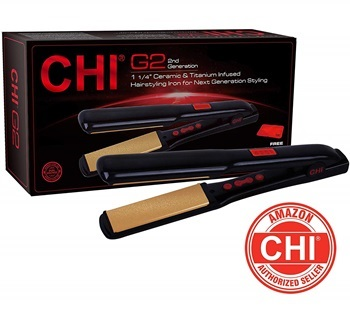 "CHI G2 Ceramic and Titanium 1 1/4"" Straightening Hairstyling Iron"