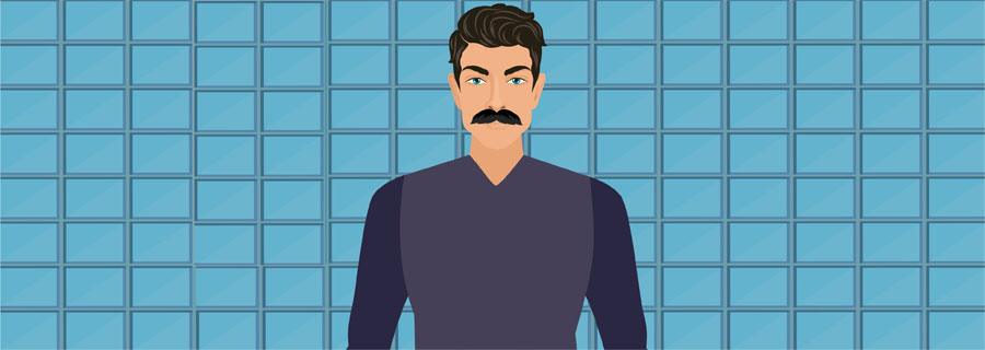 Chevron Handlebar Mustache