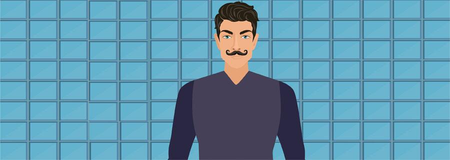Classic Handlebar Mustache
