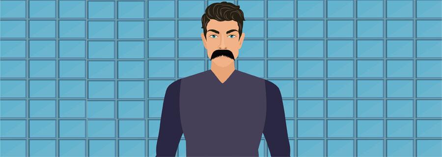 Walrus Handlebar Mustache