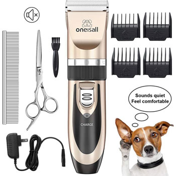 oneisall Low Noise Rechargeable Cordless Hair Clippers